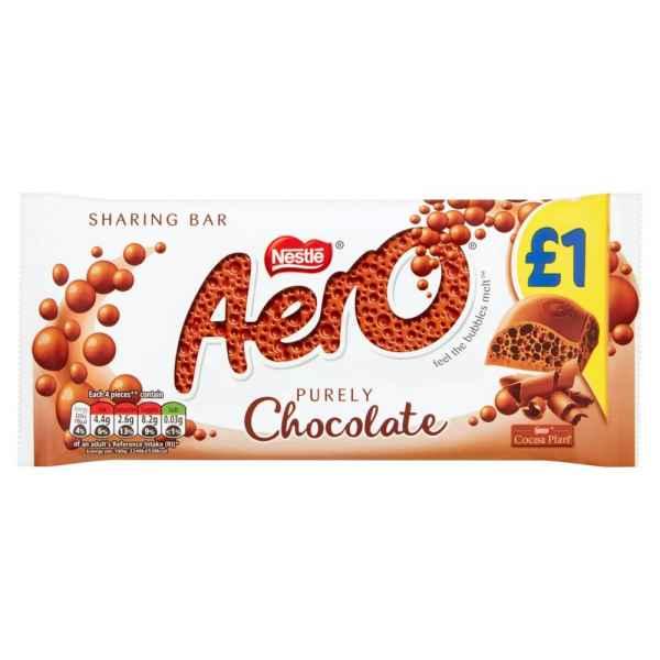 Aero Milk Chocolate Sharing Bar 100g PM