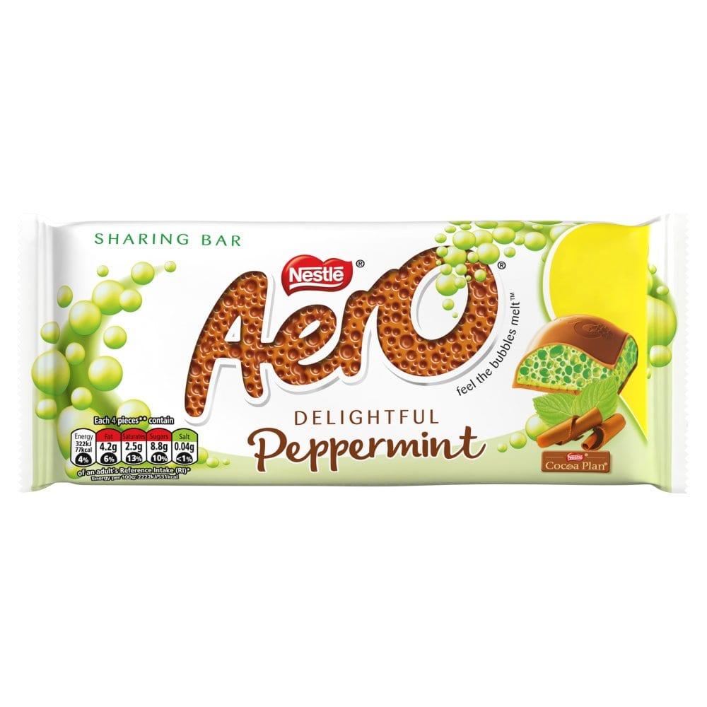 Aero Peppermint Mint Chocolate Sharing Bar 100g PM