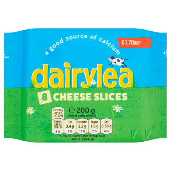 Dairylea Cheese Slices 8 Pack 200g PM