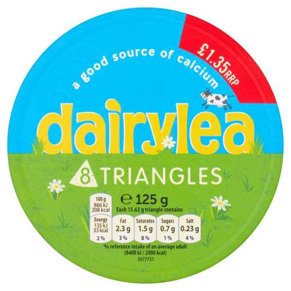 Dairylea Cheese Triangles 8 Pack 125g PM