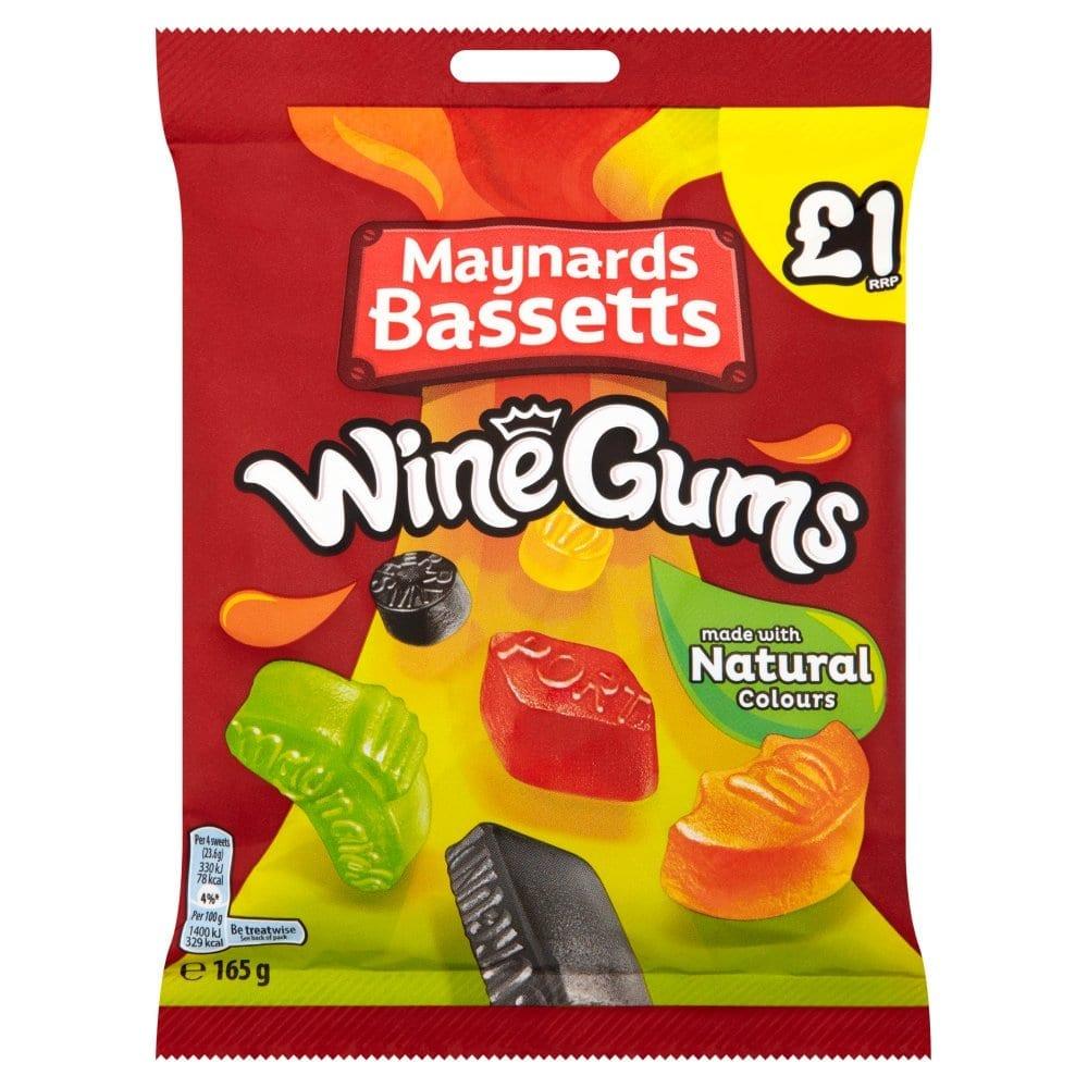 Maynards Bassetts Wine Gums Sweets Bag 165g PM