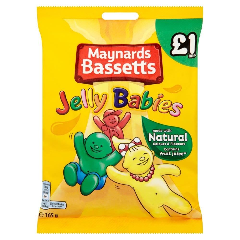 Maynards Bassetts Jelly Babies Sweets Bag 165g PM