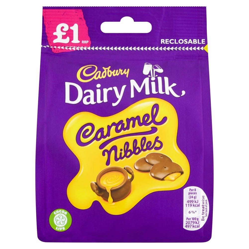 Cadbury Dairy Milk Caramel Nibbles Bag 95g PM