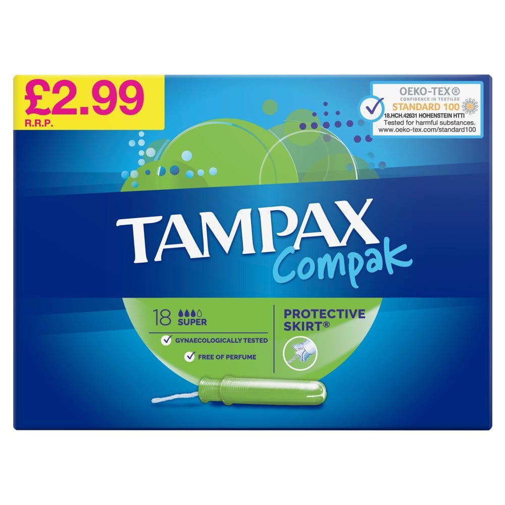 Tampax Compak Super Tampons Applicator 18X PM