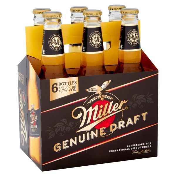 Miller Genuine Draft Cold-Filtered Beer 6 x 330ml