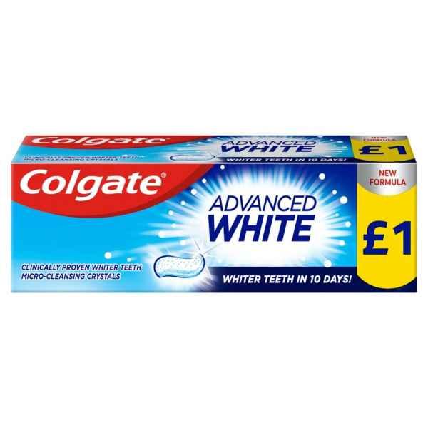 Colgate Advanced White Toothpaste 50ml - Promo