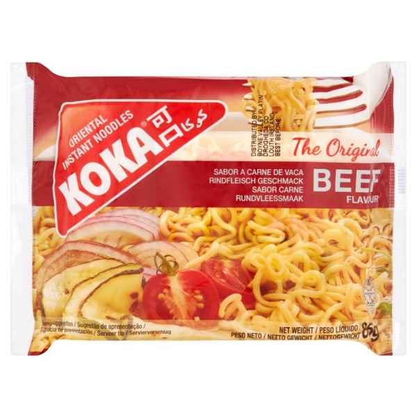 Koka Beef Flavour Oriental Instant Noodles 85g