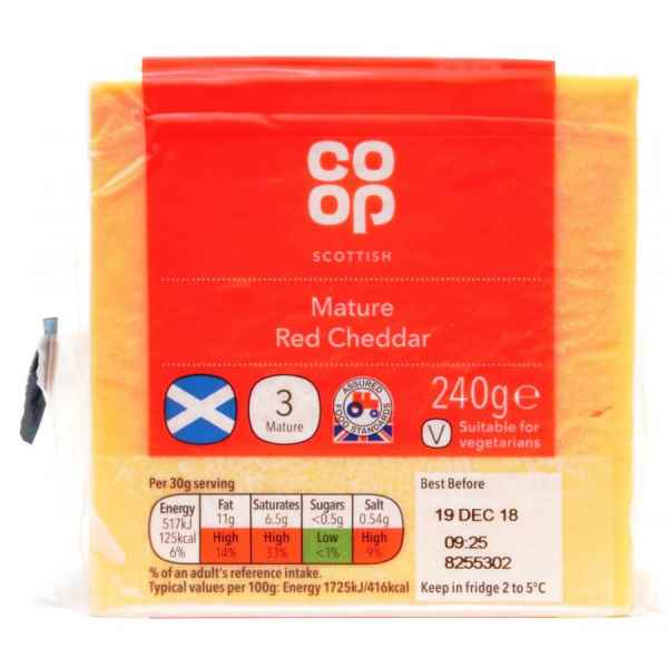 Co-op Scottish Medium Red Cheddar