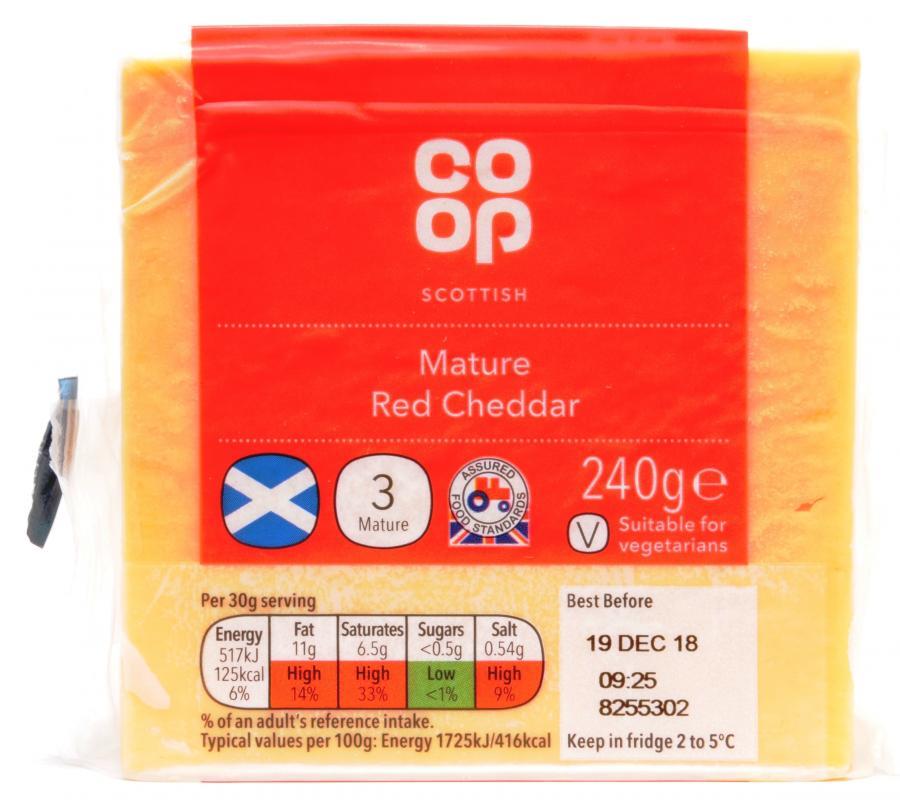 Co-op Scottish Medium Red Cheddar