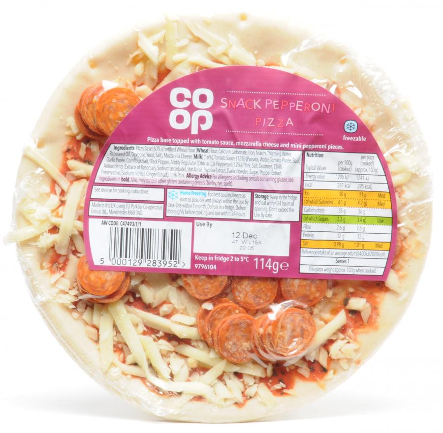 Co Op Snack Pepperoni Pizza