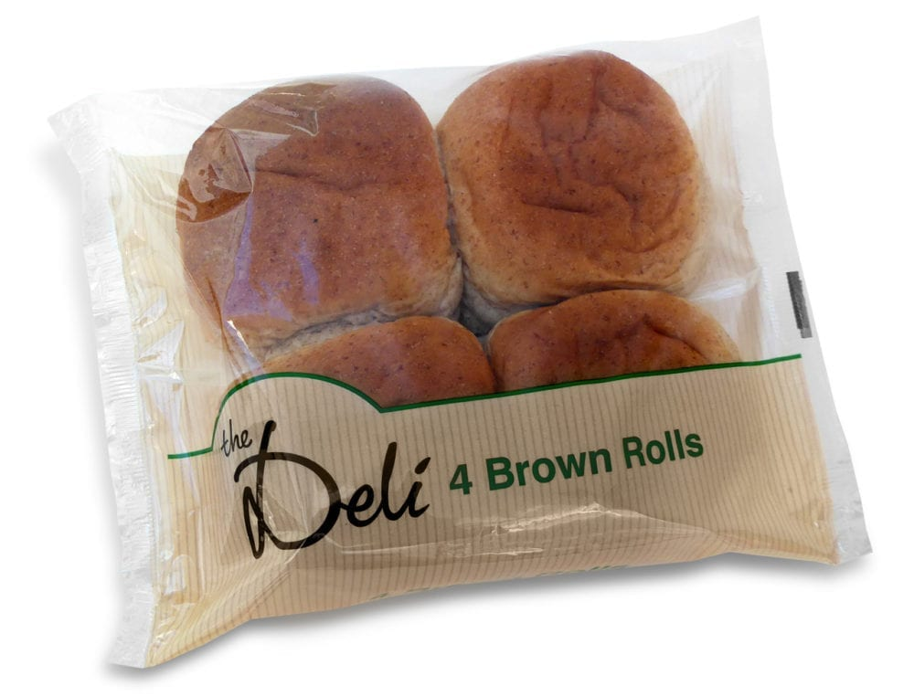 The Deli Brown Rolls 4 Pack