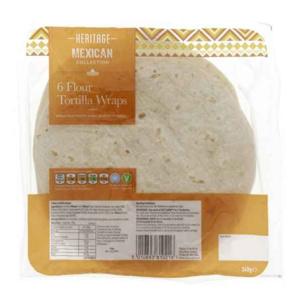 Heritage 6 Flour Tortilla Wraps