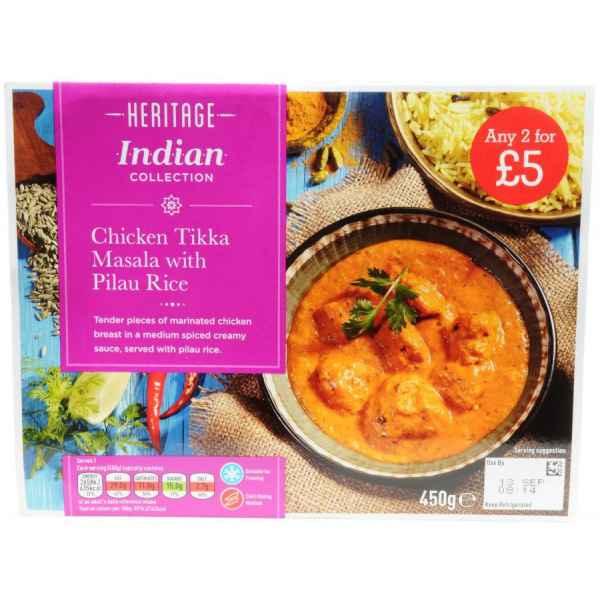 Heritage Chicken Tikka Masala And Pilau Rice