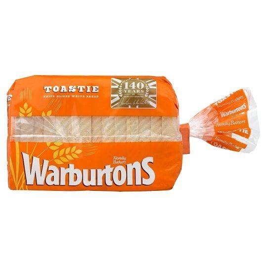 Warburtons Toastie Thick Sliced White Bread 400g PM