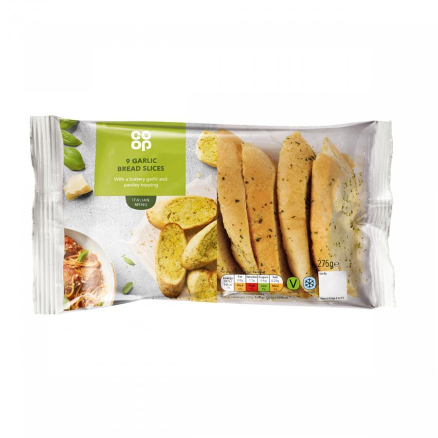 Co Op Garlic Bread Slices 9's