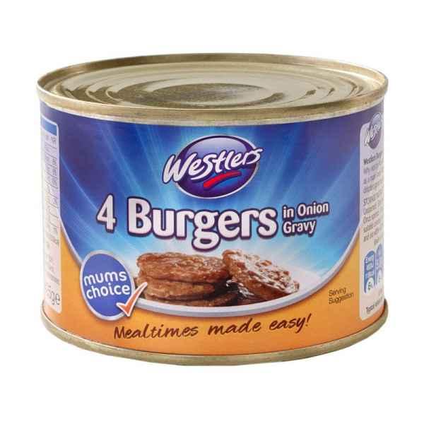Westlers Burgers in Gravy PM