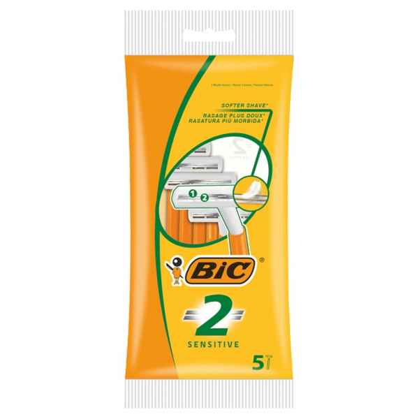 BIC 2 Sensitive Disposable Men's Razors