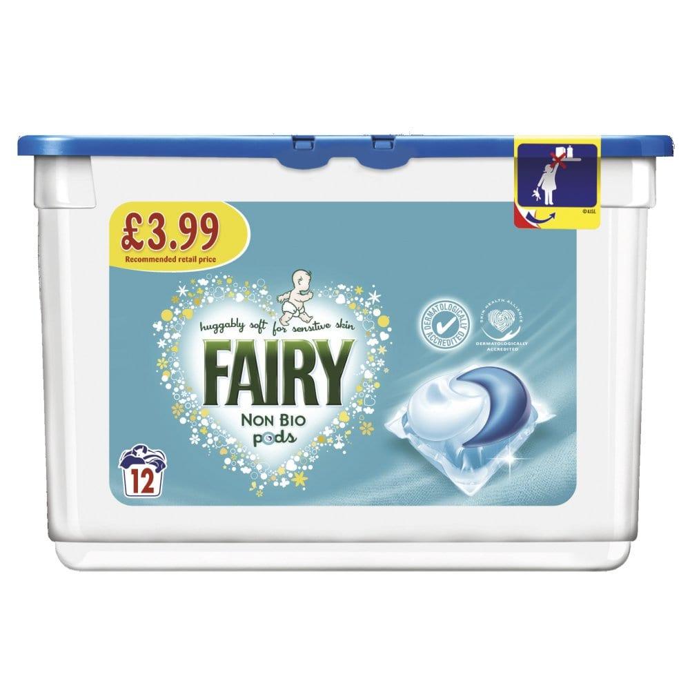 Fairy Non Bio Pods Washing Liquid Capsules 12 Washes