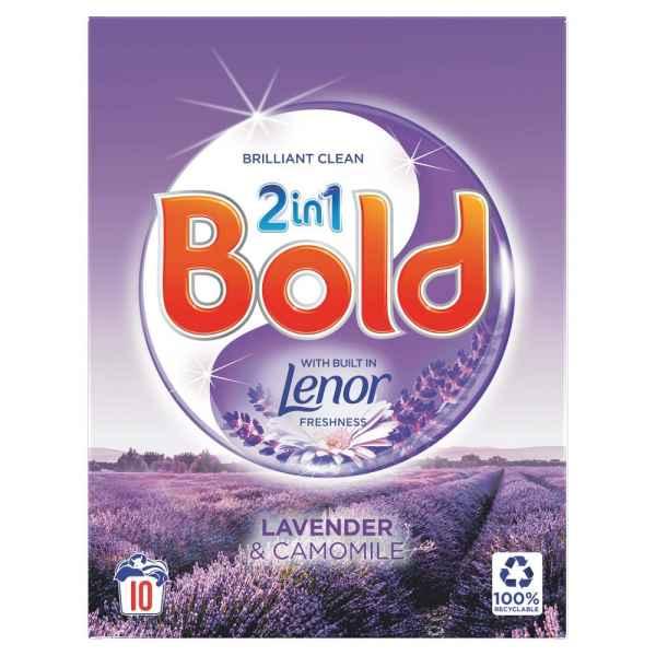 Bold 2in1 Washing Powder Lavender & Camomile 650Kg 10 Washes