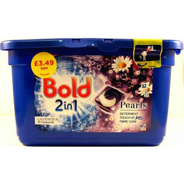 Bold 2in1 Washing Capsules Lavender & Camomile 12 Washes