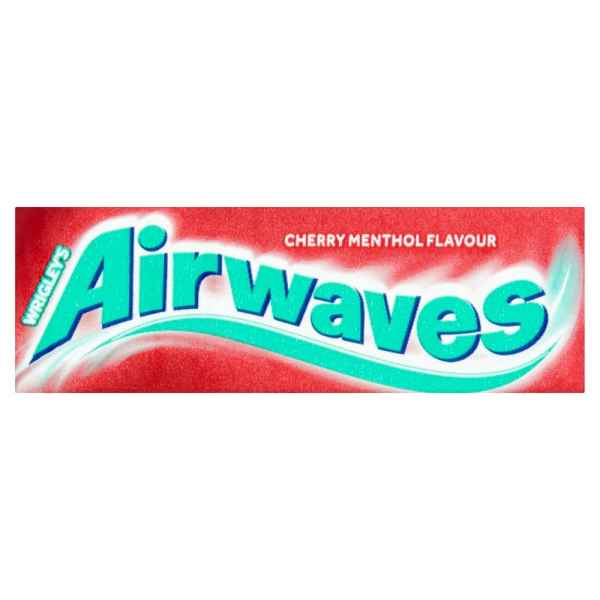 Wrigley's Airwaves Cherry Menthol Flavour Sugarfree Chewing Gum 10 Pieces 14g