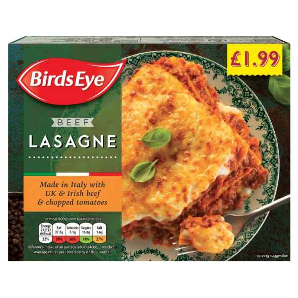 Birds Eye Beef Lasagne 400g