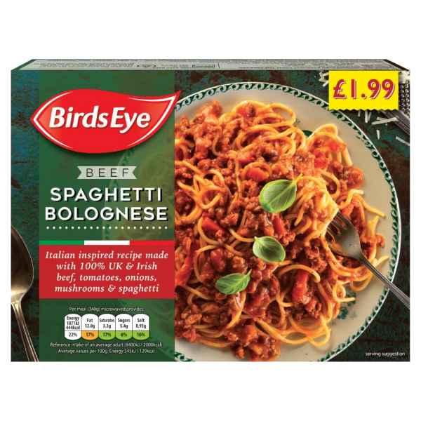 Birds Eye Beef Spaghetti Bolognese 340g