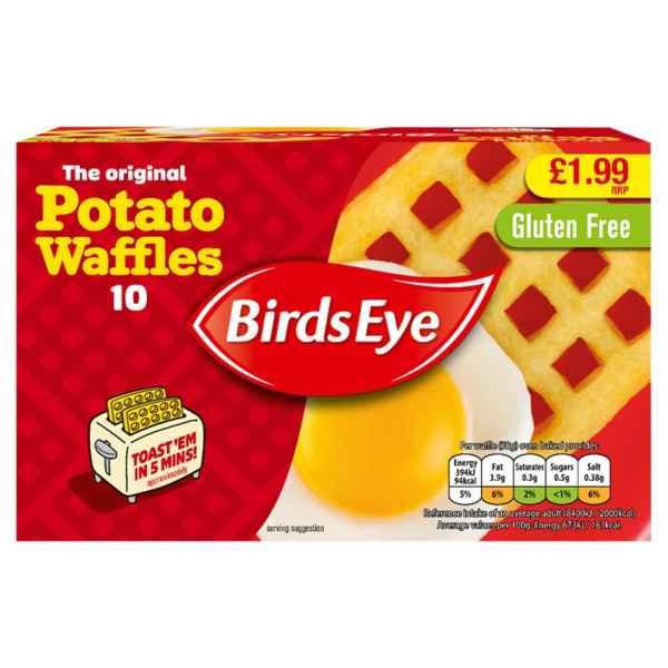 Birds Eye The Original 10 Potato Waffles 567g