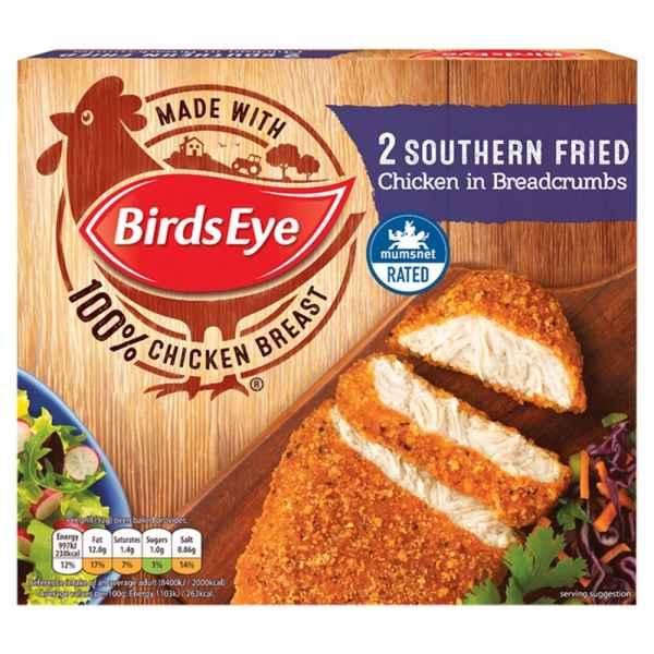 Birds Eye 2 Southern Fried Chicken in Breadcrumbs 180g PM