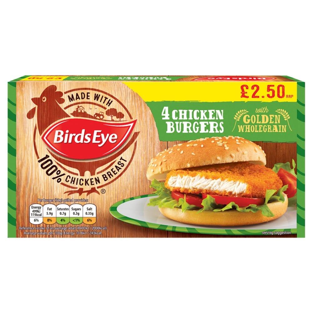 Birds Eye 4 Chicken Burgers 200g