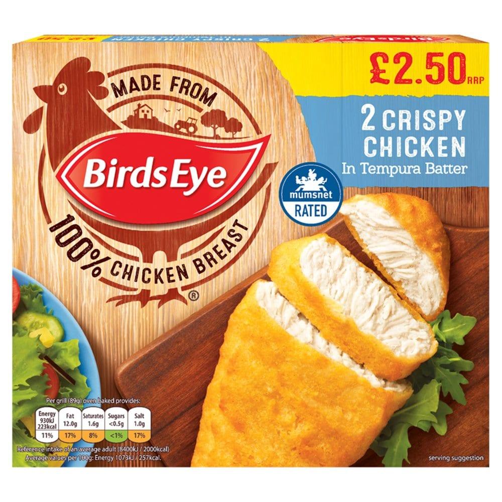 Birds Eye 2 Crispy Chicken in Tempura Batter 170g PM