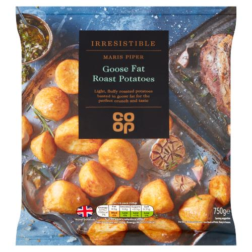 Co Op Irresistible Maris Piper Goose Fat Roast Potatoes 750g