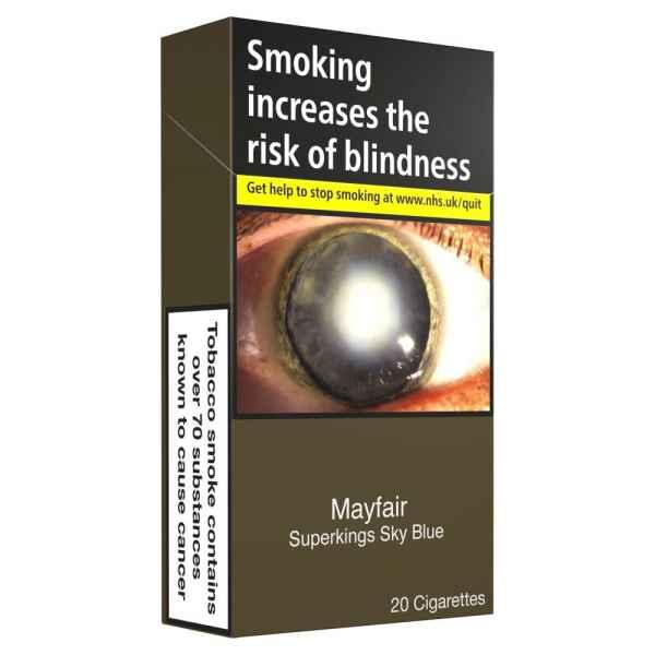 Mayfair Sky Blue Superkings 20 Cigarettes