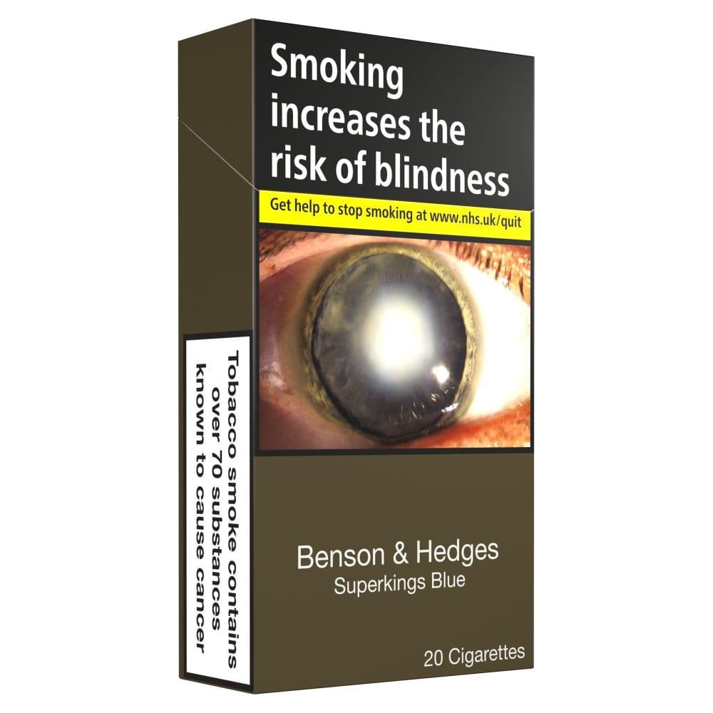 Benson & Hedges Superkings Blue 20 Cigarettes