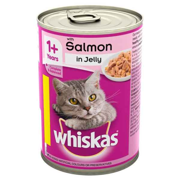 Whiskas Salmon in Jelly 390g  1+ Cat Food Tin  PM