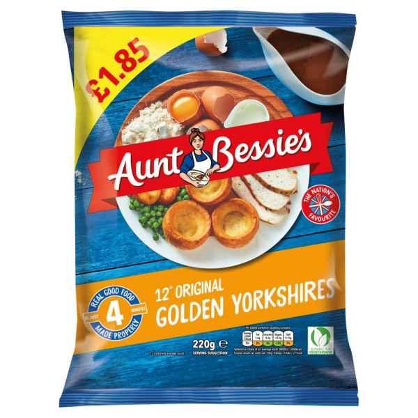 Aunt Bessie's 12 Original Golden Yorkshires 220g