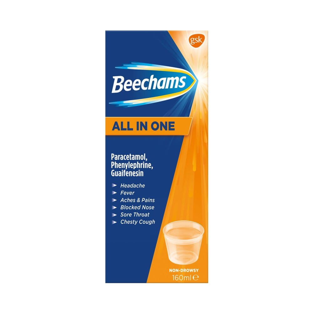 Beechams All in One Cold and Flu Liquid 160ml