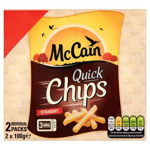 McCain Quick Chips Straight 2 x 100g (200g)