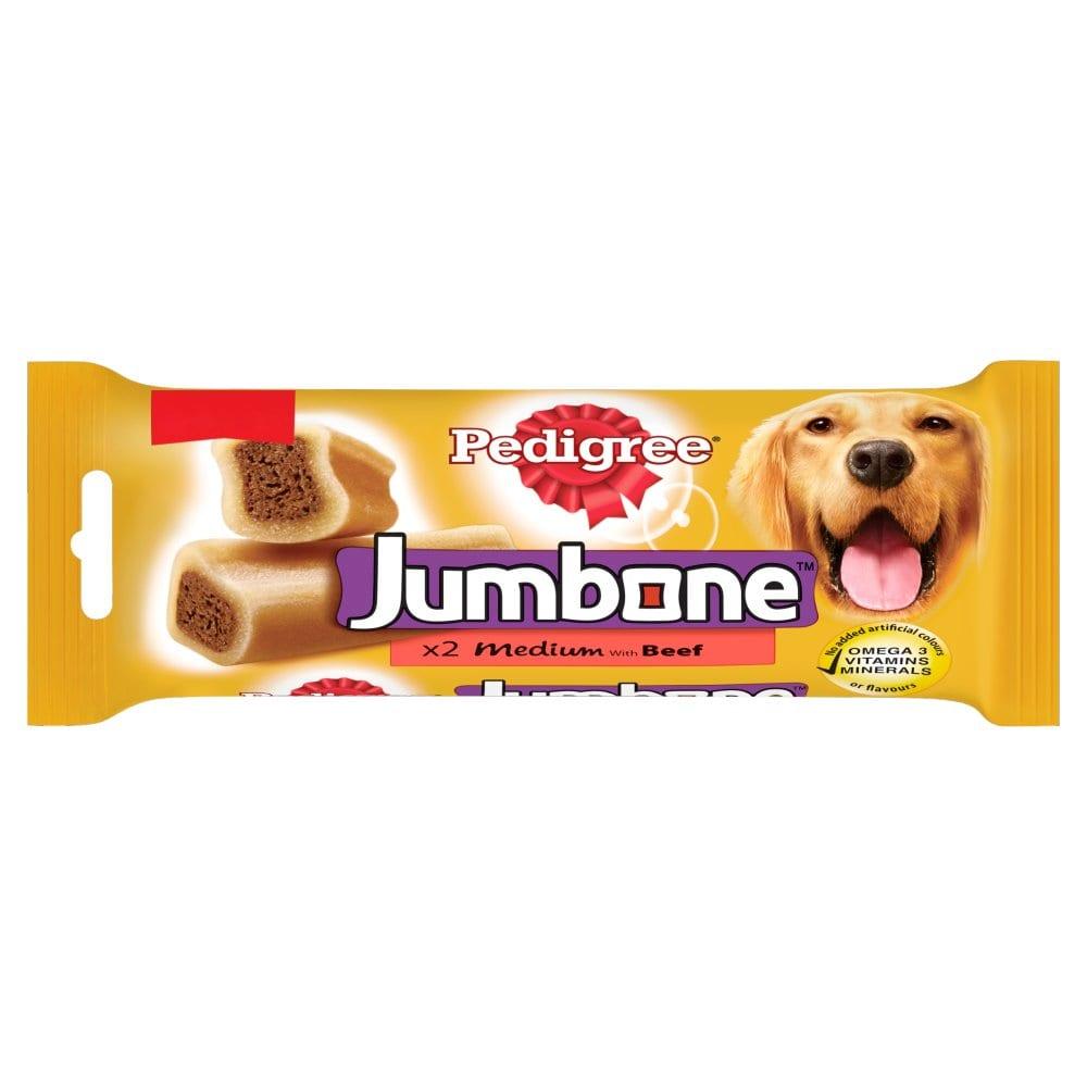 Pedigree Jumbone Medium Dog Treats with Beef 2 Chews MPP £1.75
