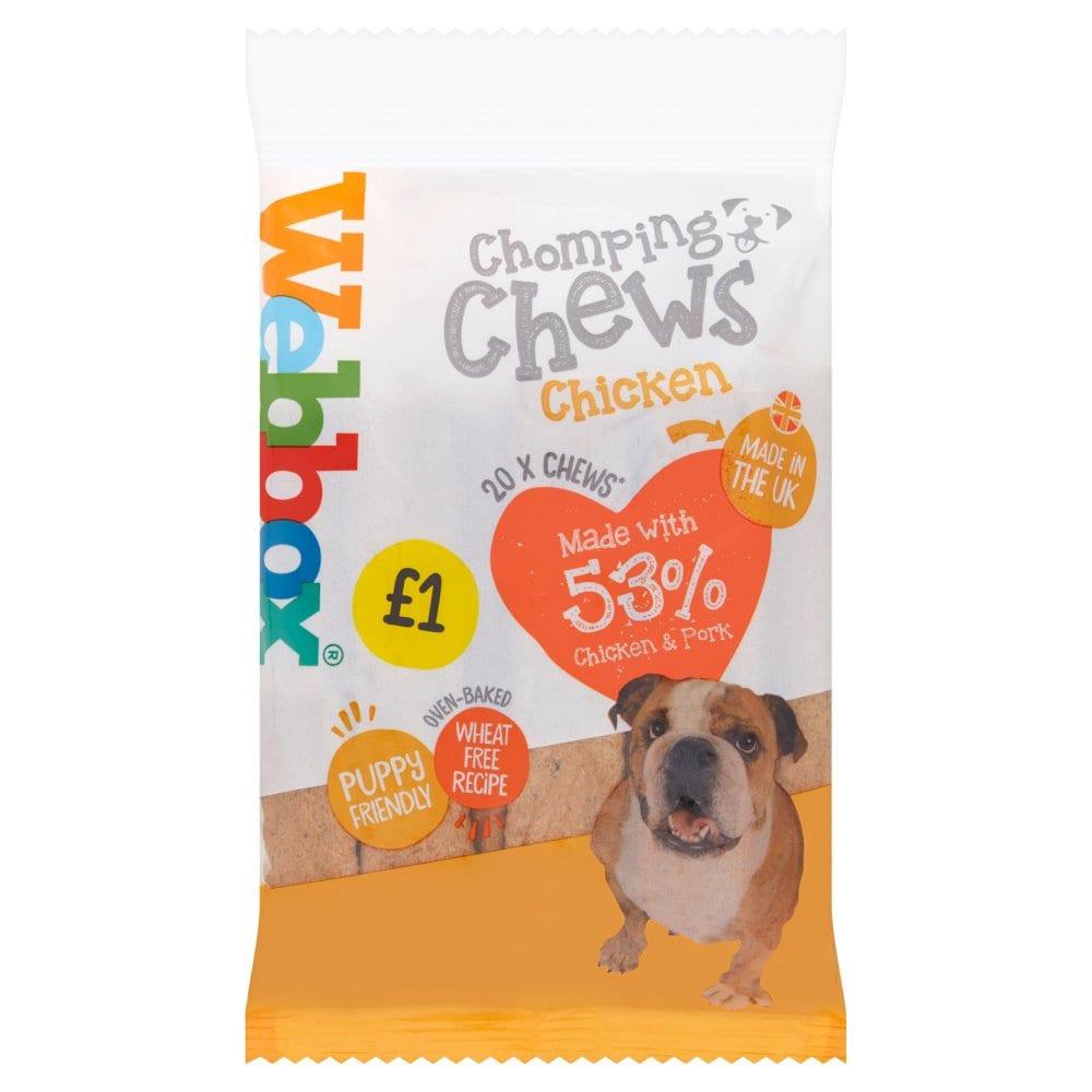 Webbox 20 Chomping Chews Chicken 200g