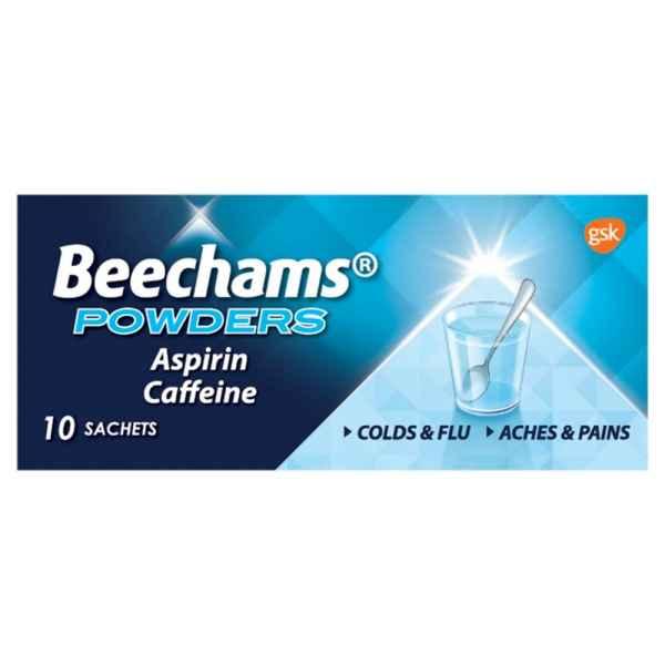 Beechams Cold and Flu Aspirin & Caffeine Powders 10s