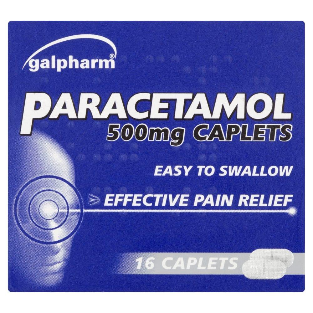 Galpharm Paracetamol 500mg Caplets 16 Caplets
