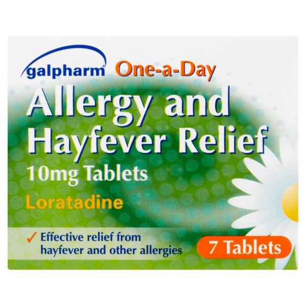 Galpharm One-a-Day Allergy and Hayfever Relief 10mg Tablets Loratadine 7 Tablets