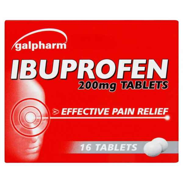 Galpharm Ibuprofen 200mg Coated Tablets 16 Tablets