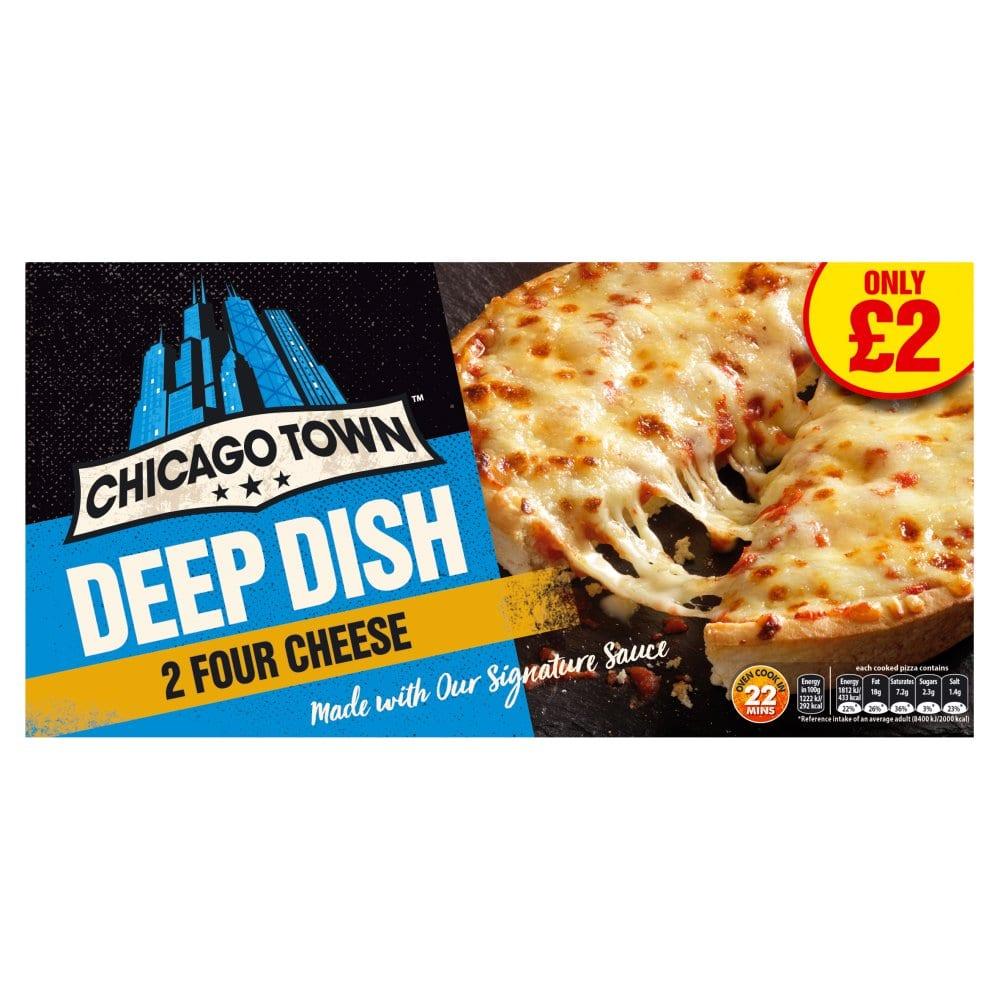 Chicago Town 2 Deep Dish Four Cheese Pizzas 310g