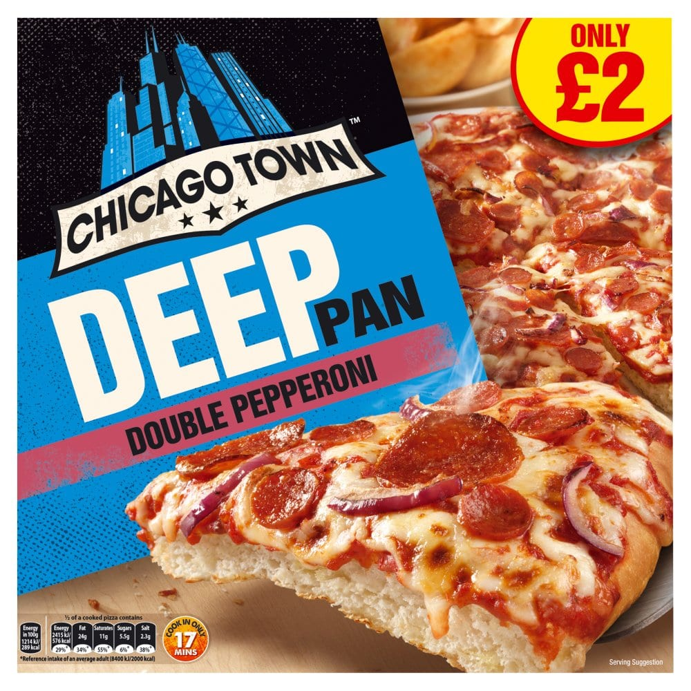 Chicago Town Deep Pan Double Pepperoni Pizza 415g