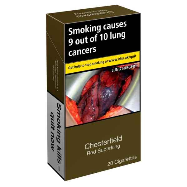 Chesterfield Red Superking 20 Cigarettes