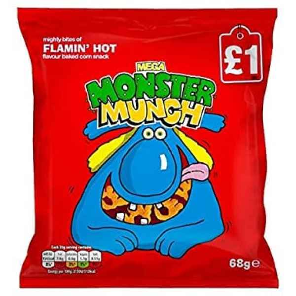 Mega Monster Munch Flamin' Hot Snacks
