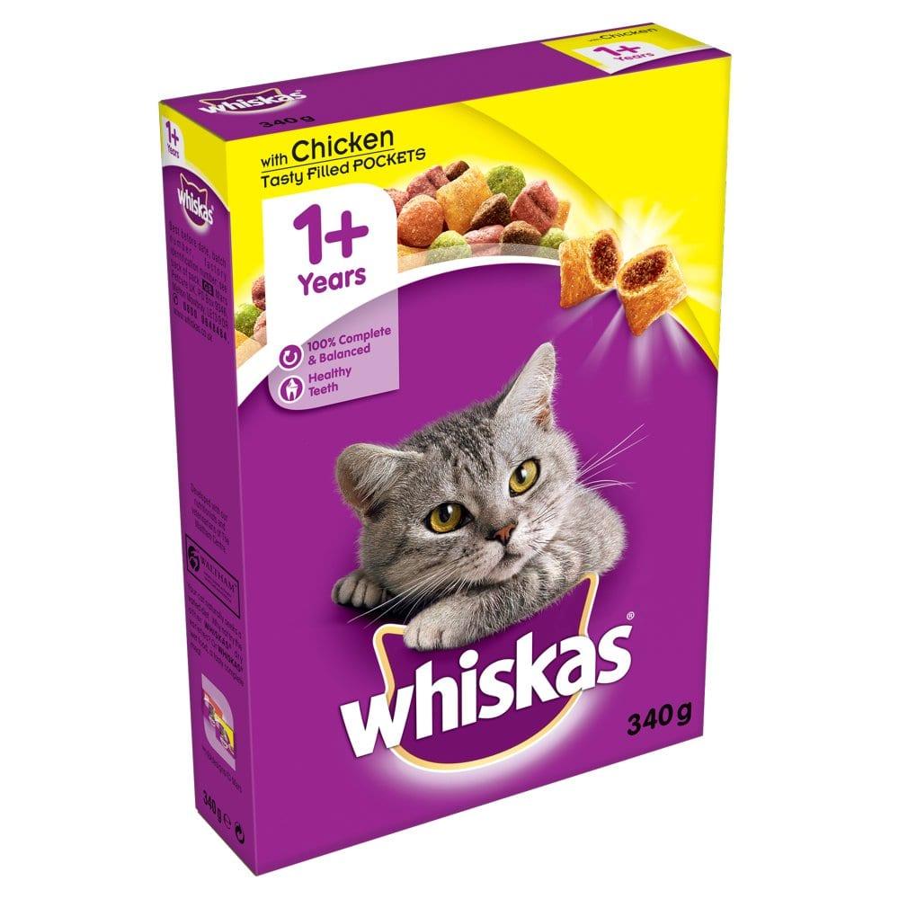 Whiskas Chicken 340g 1+ Cat Complete Dry PM