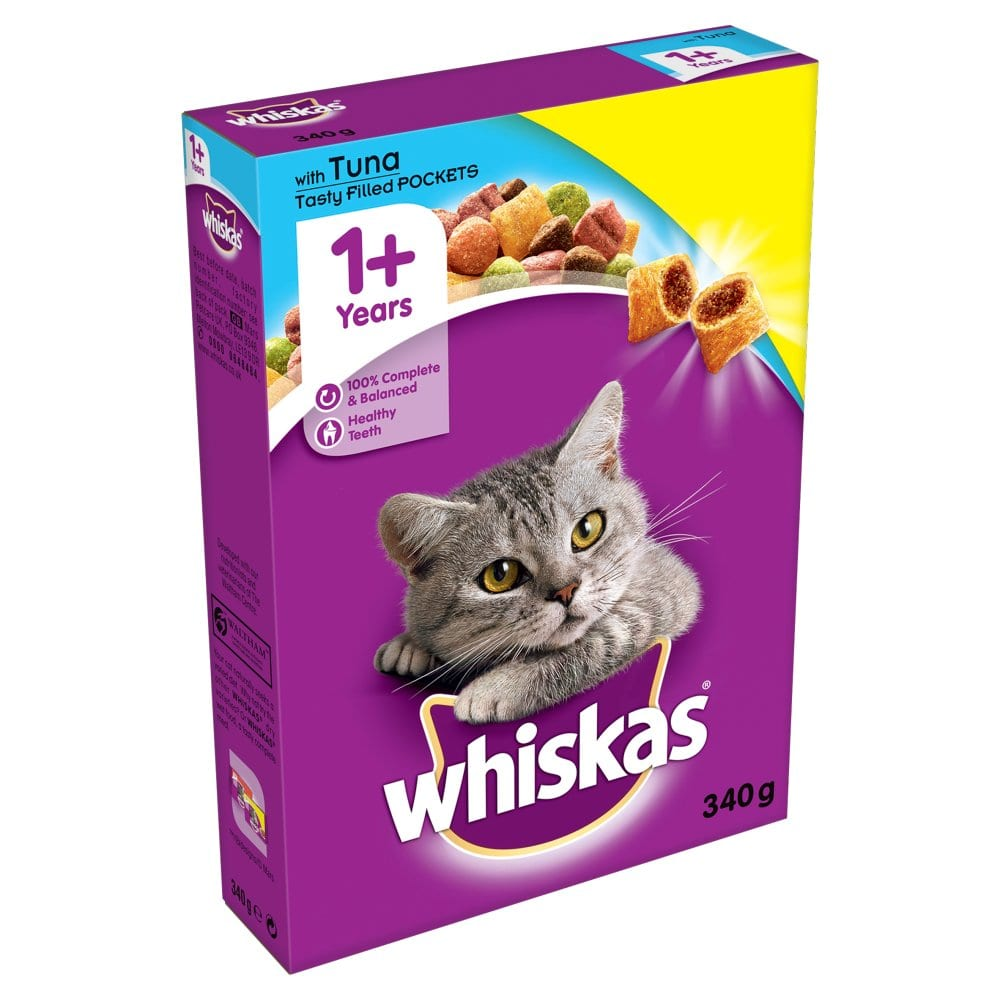 Whiskas Tuna 340g 1+ Cat Complete Dry PM